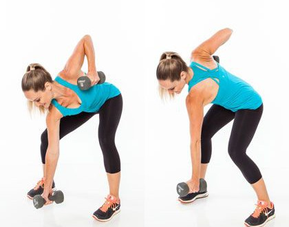 core exercises with weights straightarm climb  6 moves